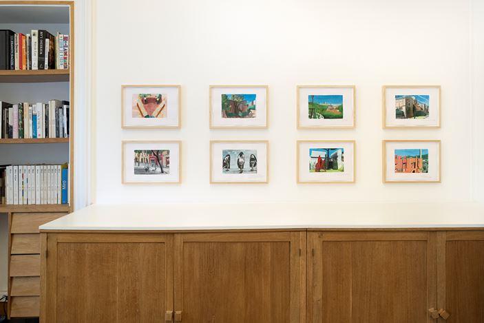 Exhibition view: Marc Desgrandchamps, Barcelona, Galerie Lelong & Co., 13 Rue de Téhéran, Paris (18 June–24 July 2020). Courtesy Galerie Lelong & Co. Paris.