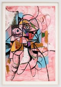 The Drifter by George Condo contemporary artwork painting, works on paper, drawing