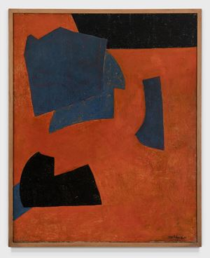 ORANGE ET BLEU by Serge Poliakoff contemporary artwork