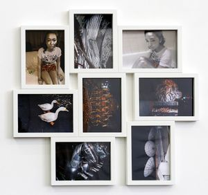 Photo Cluster (white) by Sanjay Theodore contemporary artwork
