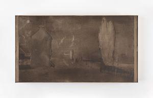 Night by Merlin James contemporary artwork mixed media