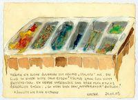 """TRÄUME ICH SUCHE ZUSAMMEN MIT OSWALD """"SCHLAFE"""" AUS [...] by Ingrid Wiener contemporary artwork painting, works on paper, drawing"""