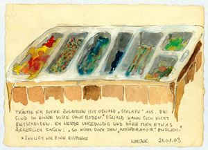 """TRÄUME ICH SUCHE ZUSAMMEN MIT OSWALD """"SCHLAFE"""" AUS [...] by Ingrid Wiener contemporary artwork"""