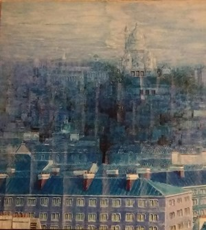 A glance of Montmartre by Robert Bourdroit contemporary artwork