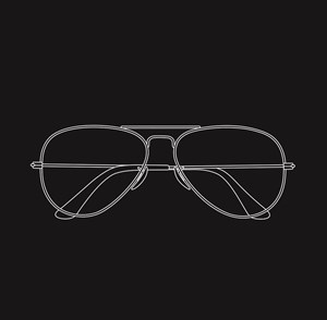 Glasses by Michael Craig-Martin contemporary artwork