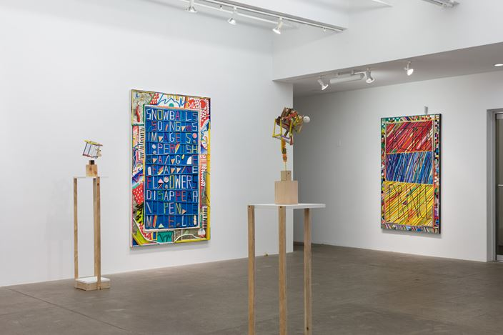 Exhibition view: Ben Gocker, Foskers & Egg Whites, P·P·O·W Gallery, New York (12 September–12 October 2019). Courtesy P·P·O·W Gallery.