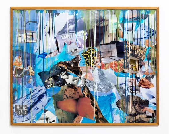 Michael Taylor, September '19 (2019). Framed collage, 80.5 x 100.5 cm. Courtesy Gallery 9, Sydney.