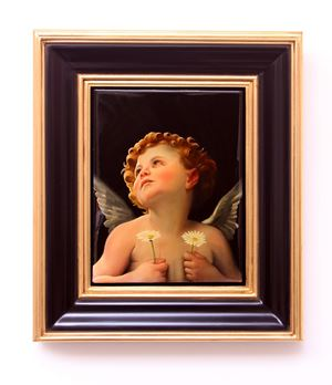 Boy with Daisies after Bouguereau's Birth of Venus by Peter Daverington contemporary artwork