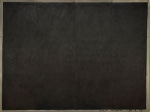 Drawing (Black Scribble) 10.2.72 by Bob Law contemporary artwork