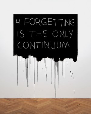 Forgetting Is The Only Continuum by Mel Bochner contemporary artwork