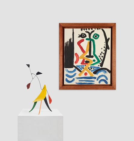 Alexander Calder, Pablo Picasso, Calder and Picasso, Exhibition view at Almine Rech Gallery, New York. Courtesy Almine Rech Gallery, New York.© 2016 Calder Foundation, New York / Artists Rights Society (ARS), New York. © 2016 Succession Picasso /Artists Rights Society (ARS), New York.