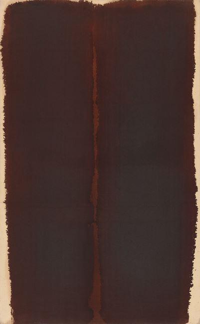 Burnt Umber '90 by Yun Hyong-keun contemporary artwork