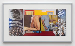 Gutter Collage 18 (Democratic Convention—Wesselmann—ass—painter) by William E. Jones contemporary artwork
