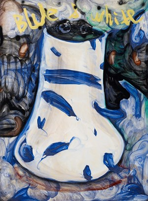 Blue and White Vase by Tang Jo-Hung contemporary artwork