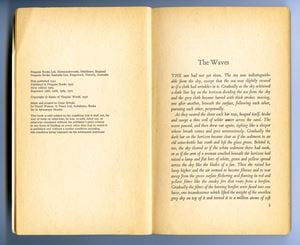 The Waves, Beginning and End (by Virginia Woolf, 1931) by Elliot Collins contemporary artwork