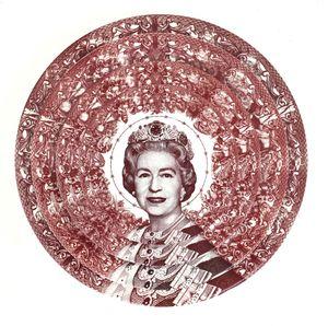 Gastric Icon III, Queen of England by Carlos Aires contemporary artwork
