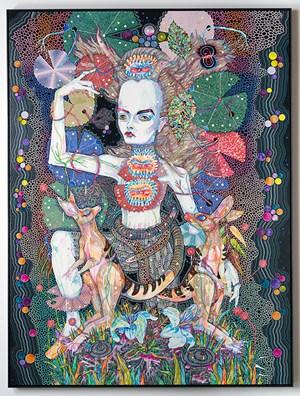 or fall again by Del Kathryn Barton contemporary artwork