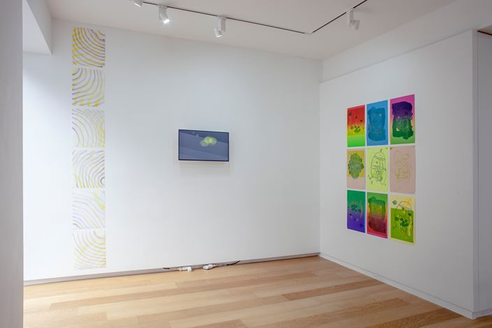Exhibition view: Michael C. Andrews, Taeyoon Kim,Gone Fishing,Whistle, Seoul (15 June–14 July 2018). Courtesy Whistle.