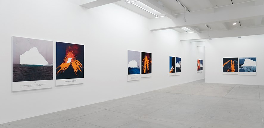 Exhibition view: John Baldessari, Hot & Cold, Marian Goodman Gallery, New York (3 May–15 June 2019). Courtesy Marian Goodman Gallery.