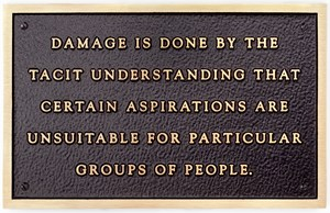 Damage is done by the tacit understanding... by Jenny Holzer contemporary artwork