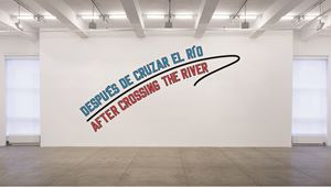 AFTER CROSSING THE RIVER by Lawrence Weiner contemporary artwork