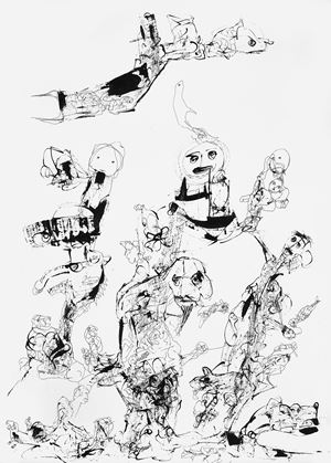 Untitled (Drawing 6) by P. R. Satheesh contemporary artwork