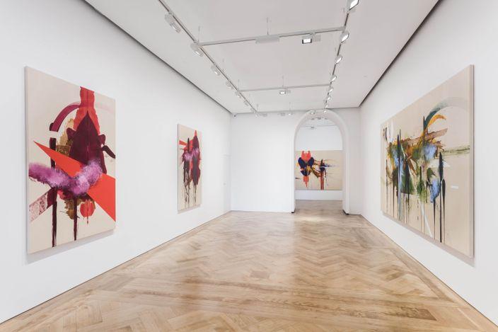 Exhibition view: Elizabeth Neel, Limb after Limb, Pilar Corrias, Saville Row (16 September–23 October 2021). Courtesy the artist and Pilar Corrias, London.