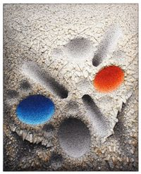 Aggregation 08 - D075 Blue & Red by Chun Kwang Young contemporary artwork works on paper, sculpture