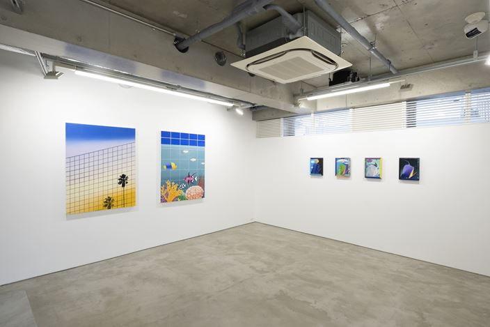 Installation view, artwork, left to right: Alec Egan; Craig Kucia. Courtesy of MAKI.