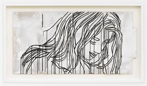 Study for the Red Portrait by Ghada Amer contemporary artwork