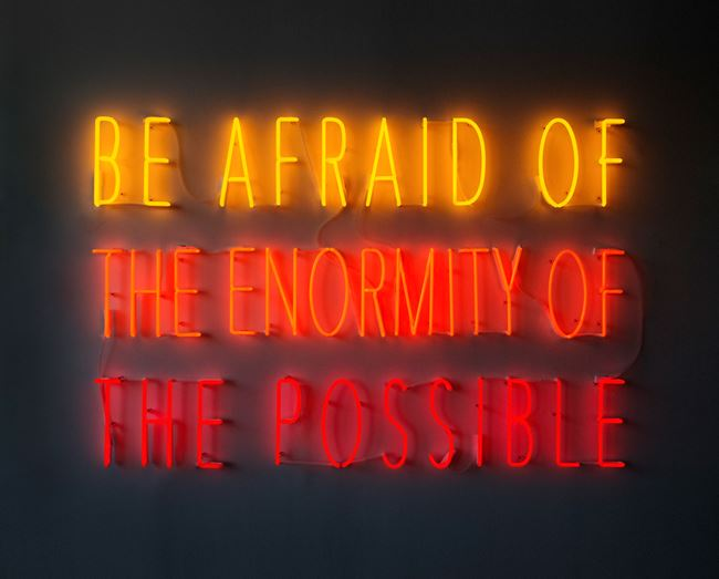 Be Afraid of the Enormity of the Possible by Alfredo Jaar contemporary artwork