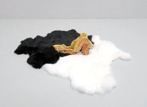 High Salmon piss pot heel by Zöe Williams contemporary artwork