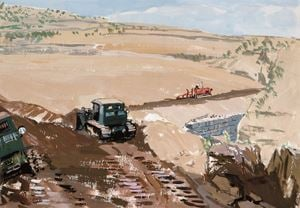 Plowing by Pang Tao contemporary artwork painting