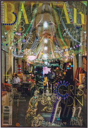 La Femme Du Bazar, no. 7 by Farhad Ahrarnia contemporary artwork