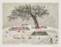 My dear friend( he that fled his fate) - Mbinda Cemetery by William Kentridge contemporary artwork works on paper, print