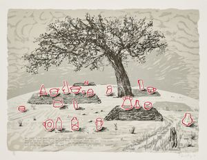 My dear friend( he that fled his fate) - Mbinda Cemetery by William Kentridge contemporary artwork