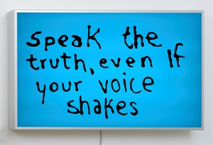 Speak The Truth Even If Your Voice Shakes by Sam Durant contemporary artwork
