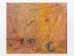 Enter the Dragon by Frank Bowling contemporary artwork