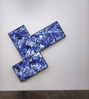 Digital Wall by Fabrizio Plessi contemporary artwork