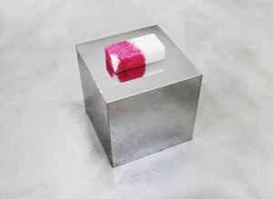 A Jade Brick Printed with Fingerprints 20190617 印有指印的玉磚 20190617 by Zhang Yu contemporary artwork