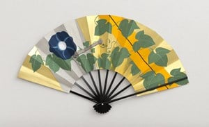 Morning glory (Folding Fan) by Taro Yamamoto contemporary artwork