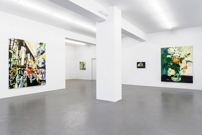 Exhibition view: Clare Woods, If Not Now Then When, Buchmann Galerie, Berlin (11 September–31 October 2020). Courtesy Buchmann Galerie.