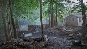 Funeral Back Lot by Gregory Crewdson contemporary artwork