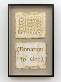 Esteemed; (Donation to God) by Nari Ward contemporary artwork works on paper
