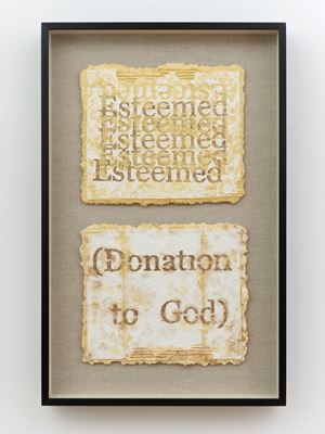 Esteemed; (Donation to God) by Nari Ward contemporary artwork
