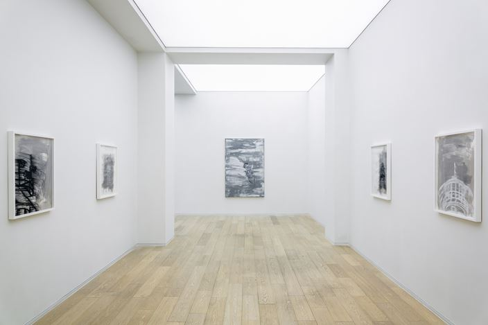 Exhibition view: Gary Simmons, Dancing in Darkness, Simon Lee Gallery, Hong Kong (4 July–29 August 2020). Courtesy the artist and Simon Lee Gallery.