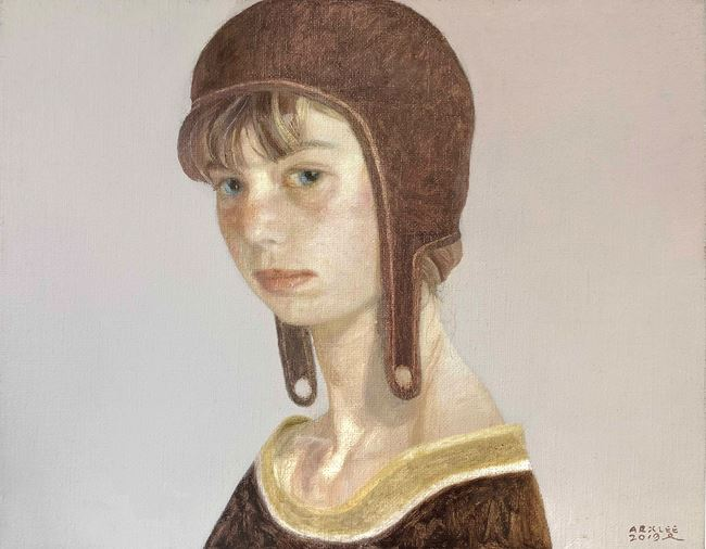 Girl Wearing A Hat by Arx Lee contemporary artwork