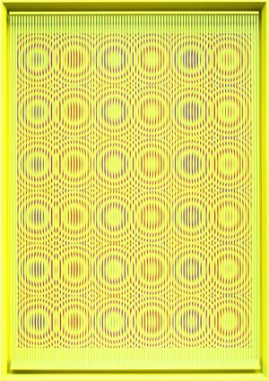 Yellow rain by Alberto Biasi contemporary artwork