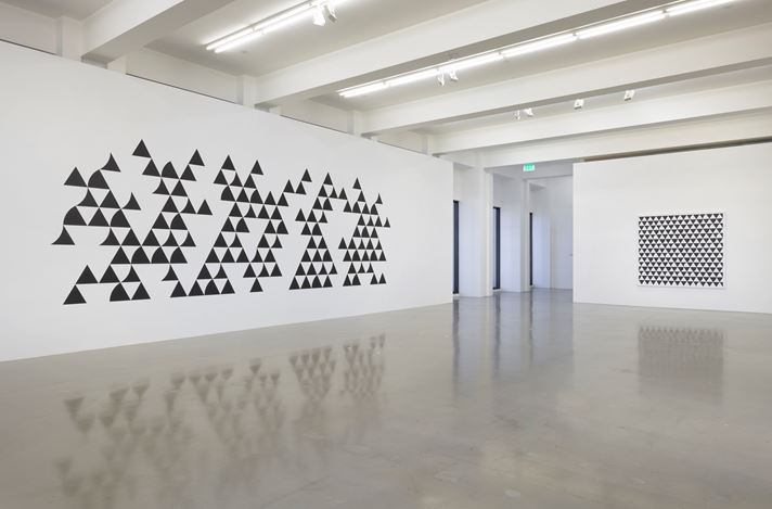 Exhibition view: Bridget Riley, Painting Now, Sprüth Magers, Los Angeles (16 November 2018–26 January 2019). Courtesy Sprüth Magers.