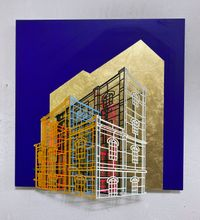 Ambiguous wall- Golden cage 02 by Byung Joo Kim contemporary artwork sculpture